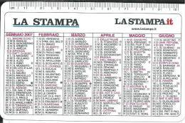 CAL640- CALENDARIETTO 2007 - QUOTIDIANO LA STAMPA