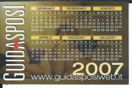 CAL643- CALENDARIETTO 2007 - GUIDASPOSI