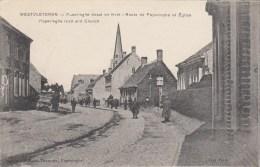 Westvleteren - Route De Poperinche Et Eglise - War 1914-18