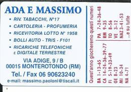 CAL649- CALENDARIETTO 2007 - ADA E MASSIMO - CARTOLERIA MONTEROTONDO (RM)