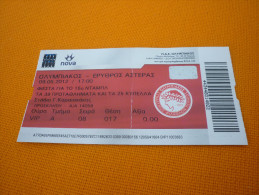 Olympiacos-Red Star International Friendly Game Football Match Ticket Stub 09/05/2012 - Tickets D'entrée