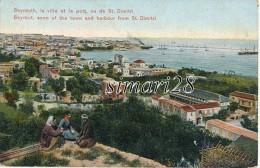 BEYROUTH - LA VILLE ET LE PORT VU DE ST. DIMITRI
