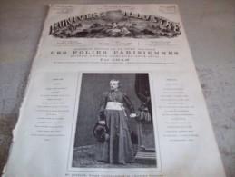 L´UNIVERS ILLUSTRE 21 AVRIL 1883 : PAVAGE DES CHAMPS-ELYSEES - PAQUE JUIVE - LAKME, OPERA DE DELIBES - Zeitungen
