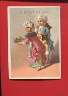 PARIS PYGMALION RARE CHROMO CALENDRIER SEMLESTRIEL 1876 DANGIVILLE COUPLE