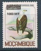 1995 MOZAMBIQUE 1304** oiseau,  surcharg�, issu de s�rie