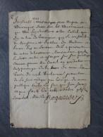 30 GARRIGUES 1672 BOUZANQUET TB Lettre En OCCITAN ? ; Rare ; Ref511 - Autographs
