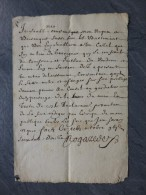 30 GARRIGUES 1672 BOUZANQUET TB Lettre En OCCITAN ? ; Rare ; Ref511 - Autógrafos