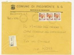 CAP 03030 - PIEDIMONTE SAN GERMANO - FR - RACC - ANNO 1981 -  F.TO 18 X 24  - STORIA DEI COMUNI D´ITALIA - Affrancature Meccaniche Rosse (EMA)