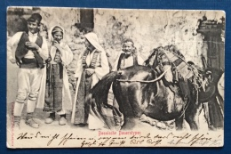 BOSNIA - BOSNISCHE BAUERNTYPEN - VIAGGIATA COME POSTA MILITARE NEL 1903 - RARA - Bosnia Erzegovina