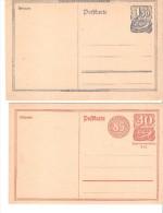 2 Tarjetas De Alemania Reich. - Sin Clasificación