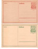 2 Tarjetas De Alemania Reich.1 - Sin Clasificación
