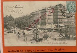 CPA13  MARSEILLES   Rue DeNoailles   Le Cour Belzunce    1903  Précurseur  OCT 2014 Div 374 - Marseille
