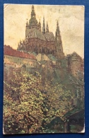 REPUBBLICA CECA - PRAG - PRAGA - DOM SV.VITA- CARTOLINA D´AUTORE VIAGGIATA  1918 - Repubblica Ceca