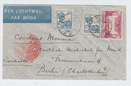 Netherlands Indies/Germany AIRMAIL COVER 1932 - Indes Néerlandaises