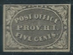 USA 1845-46 S. Louis M.O. Provisionals 5c USED SC 10x1 YV PROVIDENCE 1 MI  SG 12x1 - 1845-47 Emissions Provisionnelles