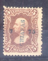 MEXICO MEJICO MEXIQUE  MIGUEL HIDALGO YVERT NR. 55a AÑO 1872 FILIGRANE PAPELSELLADO RARE - Messico