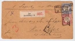DR, 1873, 1 + 2 Gr., Paketbegleit-Brief ,  S250 - Deutschland