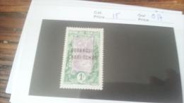 LOT 229756 TIMBRE DE COLONIE OUBANGUI NEUF* N�15 VALEUR 17 EUROS