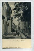 Postcard Undivided Back 1900s Cyprus Victoria Street NIcosia By J.P. Foscolo No.231 - Chypre