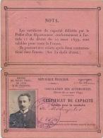 PERMIS  DE  CONDUIRE  FRANCAIS   de   1908
