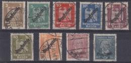 DR Dienst MiNr. 105-113 Gest. - Dienstzegels