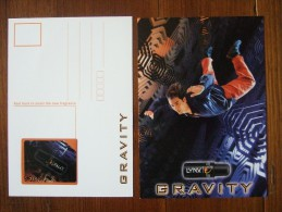 AXE Gravity Parfum Carte Postale Avec Patch - Modern (from 1961)