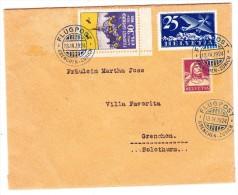 Flugpost Grenchen 4.1924 Vignette Auf Brief 13.4.1924 Flugpost Grenchen-Zürich Nach Grenchen - Luftpost