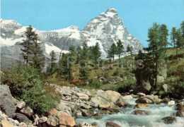 Valle D ´Aosta - Aosta Valley - Matterhorn - M. Cervino - Italia - Italy - Sent From Italy Cervinia To Germany - Unclassified