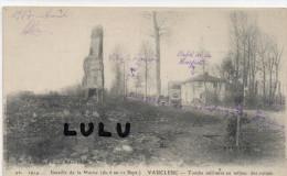 DEPT 51 ,  Guerre 1914. , Vauclerc ,café De La Houpette ,  Tombe Militaire Au Milieu Des Ruines - Otros Municipios