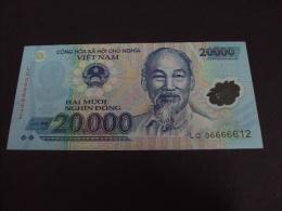 Vietnam Viet Nam UNC 20000 Dong Polymer Banknote 2006 - Fancy Number - Vietnam