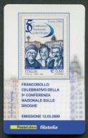 ITALIA TESSERA FILATELICA 2009 - CONFERENZA NAZIONALE SULLE DROGHE - 306 - 6. 1946-.. Republik