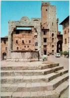 Piazza della Cisterna - Citta di S. Gimignano - Siena - Toscana - 18 - Italia - Italy - unused
