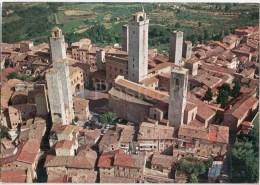 panorama dall`aereo - Citt� di San Gimignano - Siena - Toscana - 53037 - 12131 - Italia - Italy - unused