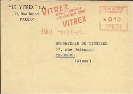 Lettre EMA Havas M 0246  Vitrez Vos Locaux Avec Vitrex Verre Usines Industries  Thematique 75 Paris  A40/14 - Fabbriche E Imprese