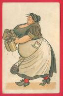 155682 / COMIC -  WOMAN PEN , Cute Waitress Mug Of BEER - LMM 840 , Censorship 10 Infantry Regiment BULGARIA - Comicfiguren