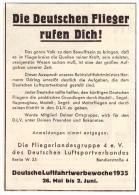Original Werbung - 1935 , Luftwaffe , Fliegerlandesguppe 4 , Deutsche Flieger Rufen Dich !!! - Fliegerei