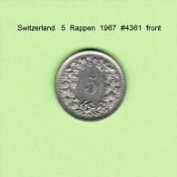 SWITZERLAND   5  RAPPEN  1967  (KM # 26) - Suiza