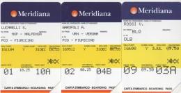 USATE- 622/757/758-TELECOM ITALIA -SERIE MERIDIANA-3 SCHEDE - Public Practical Advertising