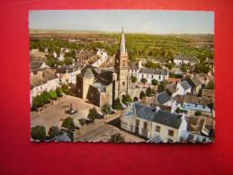CPSM   EN AVION AU DESSUS DE CLEGUEREC  L´EGLISE SAINT GUEREC      VOYAGEE - Cleguerec