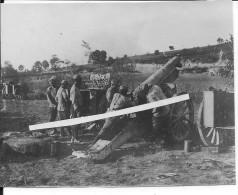1915 Obusier Français De 155mm Rimailho En Position De Tir 1 Photo 14-18 1914-1918 Ww1 Wk WWI - Krieg, Militär
