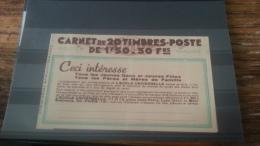 LOT 229825 TIMBRE DE FRANCE CARNET SANS LES TIMBRES