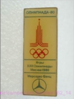 Olimpic Games - Olimpics Moscow 1980 - Olimpic Rings - Mercedes - Heavy Badge Old _352_o4520 - Jeux Olympiques