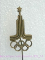 Olimpic Games - Olimpics Moscow 1980 - Olimpic Rings - Heavy Badge Old _352_o4527 - Olympic Games