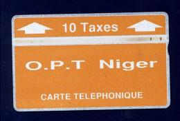 """NIGER: NGR-05b 10 Taxes """"Orange & White"""" CN:404C (6.000ex) Used"""