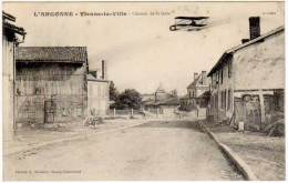 Vienne La Ville - Chemin De La Gare (avion Biplan)(édition Moisson) - France