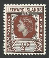 Leeward Islands, 1/2 C, 1954, Scott # 133, MH - Leeward  Islands