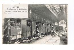 NANTES - Deuxième Jour De Mobilisation - Aout 1914 - Départ D´un Train Réservistes - Nantes Gare D´Orléans - (RARE) - Nantes