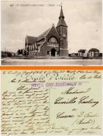 Le Touquet-Paris-Plage - L'église  (cachet Hôpital Complémentaire 46) - Le Touquet