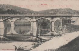 168 - VALLEE DU LOT - PONT DU CHEMIN DE FER ET DE LA ROUTE A SAINT MARTIN LABOUVAL - France