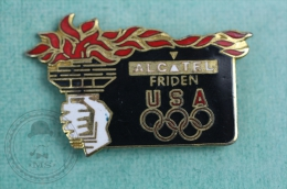 USA 1996 Olympic Games - Alcatel Friden - Pin Badge #PLS - Olympic Games